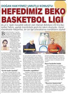 """Mamak DSİ ERA ropörtajı bugün Milliyet Ankara'da....""""Hedefimiz Beko Basketbol Ligi"""""""