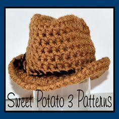 Ravelry: Cowboy Hat by Sweet Potato 3 pattern by Sweet Potato 3 Patterns