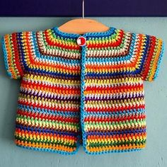 Colourful Baby VestThis crochet pattern / tutorial is available for free... Full Post: Colourful Baby Vest