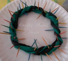 Sunday school ideas - Google Search  Jesus crown of thorns craft is a great Sunday School craft.