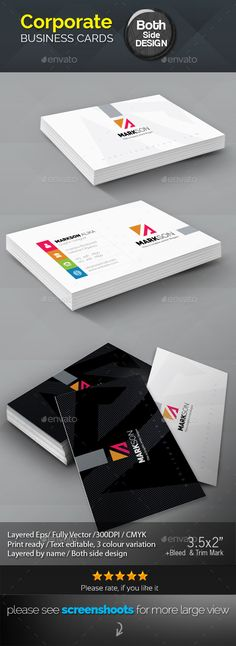 Markson_#Corporate #Business #Card - Corporate Business Cards Download here: https://graphicriver.net/item/markson_corporate-business-card/19880756?ref=alena994
