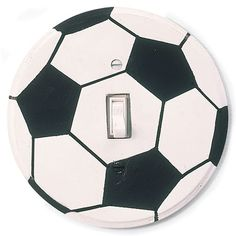 DIY Soccer Ball Switch Plate - perfect for the soccer fan in your home!