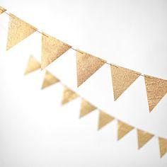 'Gold 10 ft Glitter Banner', on Minted.com