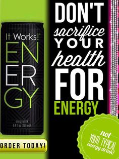 Don't sacrifice your health for energy! Try our new healthy Energy! Blended with a proprietary formula, ENERGY is packed with natural stimulants free of the jittery effects caused by today's leading energy drinks. A full spectrum of phytonutrients Potent antioxidant-rich polyphenols Packed with Vitamin B to support brain function order now at www.bethetay.com #Energy #workout