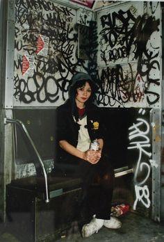 Graffiti artist Lady Pink by Martha Cooper