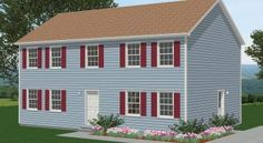 Modular Home Floor Plan  Sq. Ft.: 	2,080  Bedrooms: 	3  Bathrooms: 	2.5  Levels: 	2