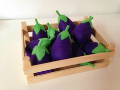 Pretend Play Filz Food Gemüse Aubergine
