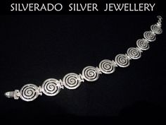 Sterling Silver 925 Ancient Greek Infinity Spiral Key Pattern Bracelet 20 cm - 7.8 inches FREE SHIPPING on Etsy, 80,00 €