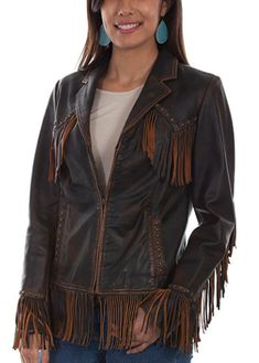 SCULLY WOMEN'S TRADITIONAL WESTERN FRINGE LEATHER JACKET – Mod and Retro Clothing Women's Jackets, Jackets For Women, Clothes For Women, Retro Clothing, Woman Clothing, Fringe Outfits, Fringe Leather Jacket, Motorcycle Jackets, Brown Booties
