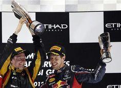 Kimi Raikkonen Sebastian Vettel in Abu Dhabi 2012 #Abu Dhabi Grand Prix Race Packages