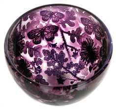 Amethyst Butterfly Bowl - Jonathan Harris Art Glass. website has much more.