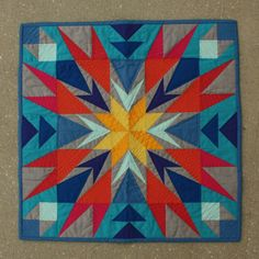 "Wowzers! ""Exploding Star"" quilt by Elizabeth Dackson of Don't Call Me Betsy."