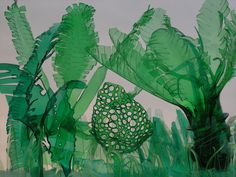 Jungle by Veronica Richterová Check out her website for amazing examples of Upcycled plastic bottles.