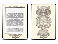 Amazon Kindle Paperwhite Skin Cover - Owl Print  - Kindle Cover, Kindle Paperwhite Cover on Etsy, $16.95