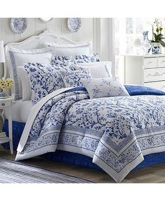 Shop for laura ashley at Bed Bath & Beyond. Buy top selling products like Laura Ashley® Charlotte Comforter Set in China Blue and Laura Ashley® Jaynie Bedding Collection. Shop now! Bed Sets, Full Comforter Sets, Blue Comforter, Duvet Sets, Duvet Cover Sets, Floral Comforter, Tropical Bedding, Bedroom Comforter Sets, Bedroom Bed