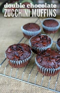 Double Chocolate Zucchini Muffins recipe -- low-sugar variety, but oh so delicious!