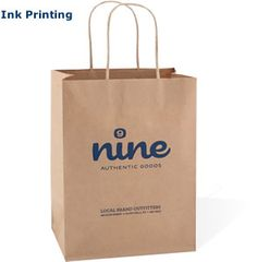 Custom Printed Paper Shopping Bags - option for holding batch of books within box (might be too crushable)