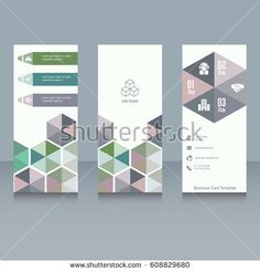 Brochure and booklet brochure designs. Easy to adapt for tri-fold brochure, poster, corporate presentation, magazine etc. Business vector set.