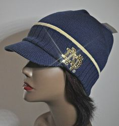 Notre Dame Fighting Irish Bling Womens Knit Hat by BabyWantsBling, $54.99 www.babywantsbling.com