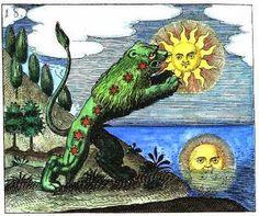 Výsledek obrázku pro green lion eating sun