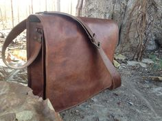 38d092020bc32 Amazon.com  Leather Bags Now Full Flap Laptop Leather Messenger Bag Satchel  Dark Brown  Sports   Outdoors