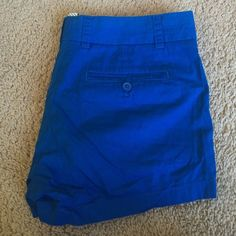 J. Crew Chino Shorts J. Crew classic chino shorts in a vibrant cobalt blue. Only worn a few times, in perfect condition! J. Crew Shorts