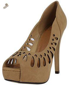 Delicious Women's Derek Nubuck Leather Peep Toe High Heel Pump, black, 65 M US (7 M US Women) - Delicious pumps for women (*Amazon Partner-Link)
