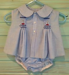 Smocked Diaper Shirt and Diaper Cover - That's Sew Mimi!