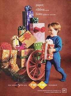 Vintage Christmas Wrapping Paper Ad 1962