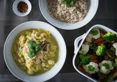 Chicken and Almond Curry recipe - this healthy simple meal is mild, but very flavoursome for the whole family to enjoy.