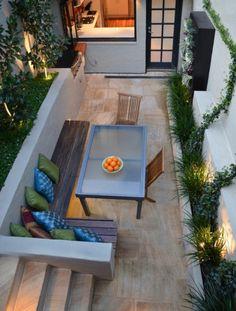 small balcony with corner
