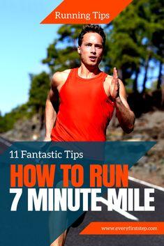 Running A Mile, Running Plan, Running Tips, Treadmill Workouts, Running Workouts, At Home Workouts, 7 Minute Mile, Running Challenge, Strength Training For Runners