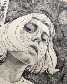 Fabulous Drawing On Creativity Ideas. Captivating Drawing On Creativity Ideas. A Level Art, Portrait Art, Portraits, Self Portrait Drawing, 3d Drawings, Art Sketchbook, Art Inspo, Line Art, Art Sketches
