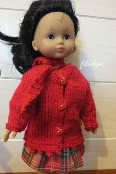 tutorial for a knitted coat the little darlings Corolla and Paola Reina French Pattern, Wellie Wishers, Knitted Coat, Diy Doll, Doll Patterns, Doll Clothes, Barbie, Crochet Hats, Dolls