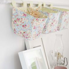 Fabric hanging boxes  Your Home  http://pinterest.com/incredibleoop/