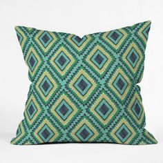 Vy La Island Diamond Throw Pillow | DENY Designs Home Accessories