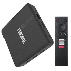 MECOOL KM1 DELUXE (4GB RAM 32GB ROM) - $75.99 (coupon: MECOOLKM1) 📉 TV Box / Support Google Assistant / Smart Voice Remote / Android 9.0 ATV / Amlogic S905X3 Quad Core / Mali-G31 / 4GB RAM 32GB ROM / 2.4GHz 5GHz Dual-band WiFi / 100Mbps - EU Plug / BLACK #TV #Box #ATV #androidTV #MECOOL #KM1 #DELUXE #tvbox #gearbest #твбокс #coupon 4624 Black Tv, Android 9, 4gb Ram, Sd Card, Apple Tv, Plugs, Remote, Gauges, Pilot