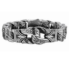 HEMATITE AND WHITE BONE CLUSTER Bead Bracelet by Designer Scott
