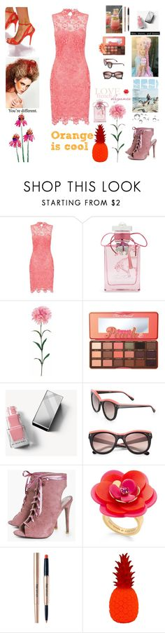 """""""french glam"""" by xexendes ❤ liked on Polyvore featuring Paper Dolls, Brooks Brothers, Too Faced Cosmetics, Burberry, STELLA McCARTNEY, Boohoo and Kate Spade"""