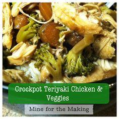 Crockpot Teriyaki Chicken & Veggies #crockpot