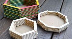 Como Fazer um Porta-Trecos com Palitos de Picolé | Reciclagem no Meio Ambiente – O seu portal de artesanato com material reciclado