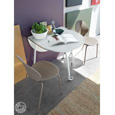 Tavolo in legno, metallo e vetro Levante - Calligaris CS/4091-R ...