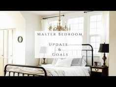 Master Bedroom Update & Goals - YouTube Homemaking, House Tours, Master Bedroom, Goals, Youtube, Farmhouse, Furniture, Home Decor, Ideas