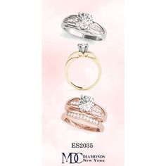 ES2035 Diamond Pave Engagement Ring by mdc-diamonds on Polyvore Cathedral, Diamonds, Engagement Rings, Personalized Items, Polyvore, Wedding Rings, Commitment Rings, Diamond, Diamond Engagement Rings
