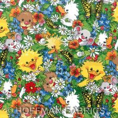 Suzy Ducken in Duckport. Colorful fabric for kids in our store. Cute Images, Cute Pictures, Zoo Clipart, Baby Animals, Cute Animals, Bullet Journal Art, Suzy, Diy Painting, Cute Art