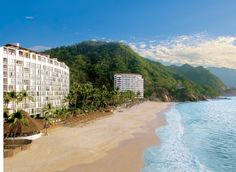 #Beach view from all-inclusive Dreams #PuertoVallarta #Vacation #Sun #Sand #Mexico