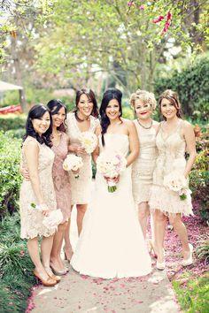 Mismatched bridesmaids  Photography: Clayton Austin - loveisabird.com/
