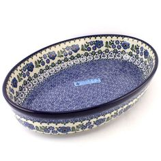 Polish pottery is so beautiful and useful at the same time :) You can use this lovely oval dish for baking and then for serving meals to your family! See http://slavicapottery.com