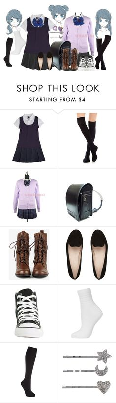"""Attack On Titan: Junior High [OC]"" by grandmasfood ❤ liked on Polyvore featuring French Toast, Stance, Seychelles, Converse, Topshop, John Lewis and Forever 21"