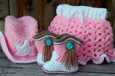 c3490371da20d Crocheted Cowgirl Set Includes Hat Boots and by CrochetEstates - Picmia Cowboy  Crochet